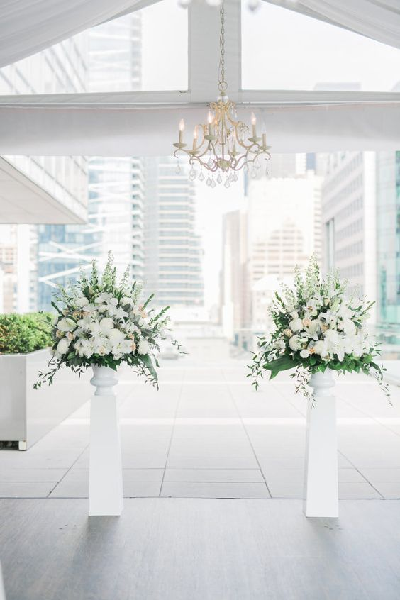 white wedding inspiration Melanie Parent Events